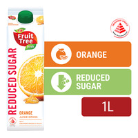F&N Fruit Tree Fresh Less Sugar & Calories Juice - Orange