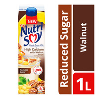 F&N NutriSoy High Calcium Fresh Soya Milk - Walnut (Reduced Sugar)