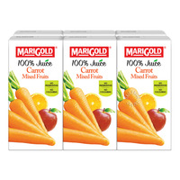 Marigold 100% Packet Juice - Carrot Mixed Fruits