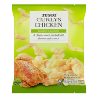 Tesco Curlys Corn Snack - Chicken
