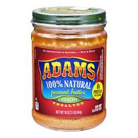 Adams 100% Natural Peanut Butter - Crunchy (Unsalted)