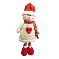 Imported Snowman Doll - Extendable Legs
