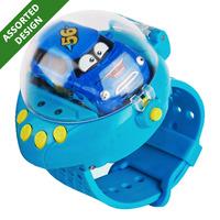 Q Edition Car RC Mini Cars in Watch Controller - Blue