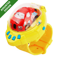 Q Edition Car RC Mini Cars in Watch Controller - Yellow