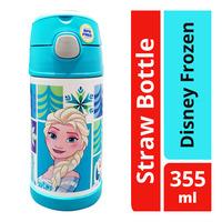 Thermos Vacuum Stainless Steel Straw Bottle - Disney Frozen
