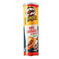 Pringles Potato Chips - BBQ Sausage & Onion