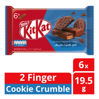 Nestle Kit Kat 2 Finger Chocolate Bar - Cookie Crumble