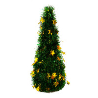 Imported Foldable Christmas Tree - Green & Gold (150cm)