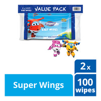 Drypers Baby Wipes - Super Wings