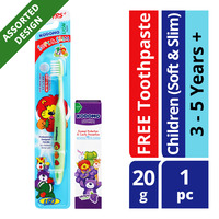 Kodomo Children Toothbrush + Toothpaste - Soft & Slim (3 - 5 years)