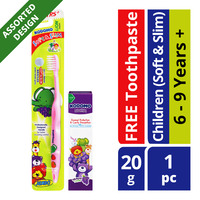 Kodomo Children Toothbrush + Toothpaste - Soft & Slim (6 - 9 years)