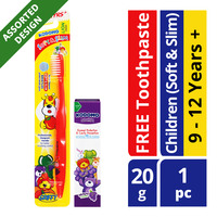 Kodomo Children Toothbrush + Toothpaste - Soft & Slim (9 - 12 years)