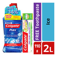 Colgate Plax Mouthwash - Ice + Free Toothpaste