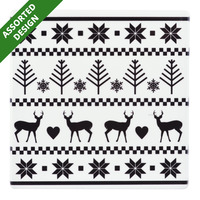 Imported Christmas Tile Coaster - Assorted