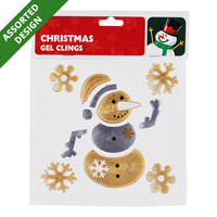 Imported Christmas Gel Cling - Assorted