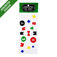 Imported Christmas Gel Sheet - Assorted
