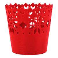 Imported Christmas Felt Decoration - Red Basket
