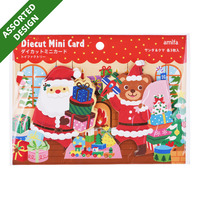 Imported Christmas Diecut Mini Card - Kids Santa (Assorted)