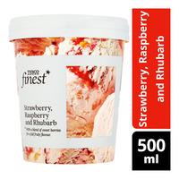 Tesco Finest Ice Cream - Strawberry, Raspberry and Rhubarb