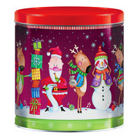 Gourmet Christmas Holiday Popcorn Tin