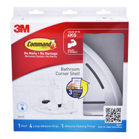 3M Command Bathroom Corner Shelf