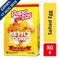 Papatos Kettle Cooked Potato Chips - Salted Egg