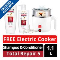 L'Oreal Paris Elseve Shampoo & Conditioner - Total Repair 5 + Cooker