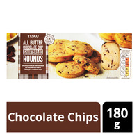Tesco All Butter Shortbread Rounds - Chocolate Chips