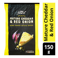 Tesco Finest Hand Cooked Potato Crisps - MatureCheddar&RedOnion