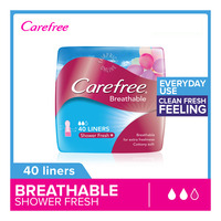 Carefree Breathable Panty Liners - Shower Fresh