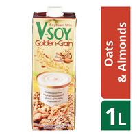 V-Soy Golden Grain Soya Bean Milk - Oats & Almonds