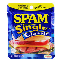 Hormel Spam Single Luncheon Meat - Classic