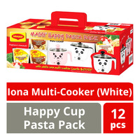 Maggi Happy Cup Pasta Pack with Iona Multi-Cooker - White