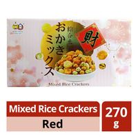 Beans' Family Mixed Rice Crackers - Red