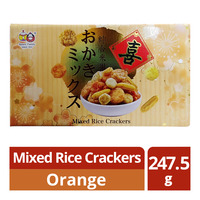 Beans' Family Mixed Rice Crackers - Orange
