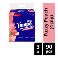 Tempo Soft Pack Tissue - Fuzzy Peach (4ply)