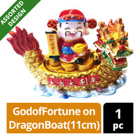 Imported CNY Decoration - GodofFortune on DragonBoat(11cm)