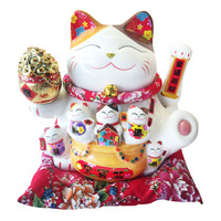 Imported CNY Fortune Cat Decoration - Ju Bao Pen
