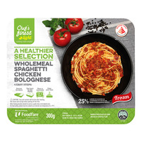 Chef's Finest Ready Meal-WholemealSpaghettiChickenBolognese