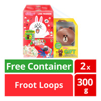 Kellogg's Line Friends Cereal - Froot Loops + Container