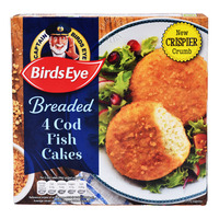 Birds Eye Frozen Breaded Fish Cakes - Cod