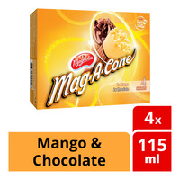 F&N Magnolia Mag-A-Cone Ice Cream - Mango & Chocolate