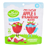 Kiwigarden Power Snacks - Crunchy Apples & Strawberry Slices