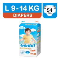 Genki Premium Soft Tape Diapers - L