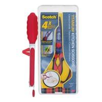 3M Scotch Titanium Kitchen Scissors - Red + Tongs