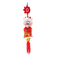 Imported CNY Fortune Cat Hanging Ornament - Pink
