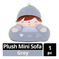 Imported Plush Mini Sofa - Grey