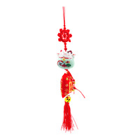 Imported CNY Fortune Cat Hanging Ornament - Green