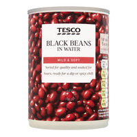 Tesco Beans in Water - Black