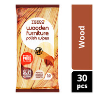 Tesco Furniture Polish Wipes - Wood